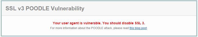 Poodle attack on sslv3